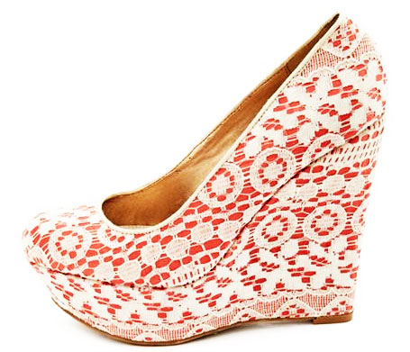 Neon Lace Charlotte Russe wedges