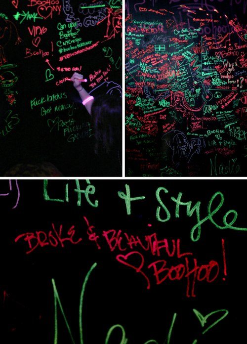 boohoo's Neon Autograph Wall!