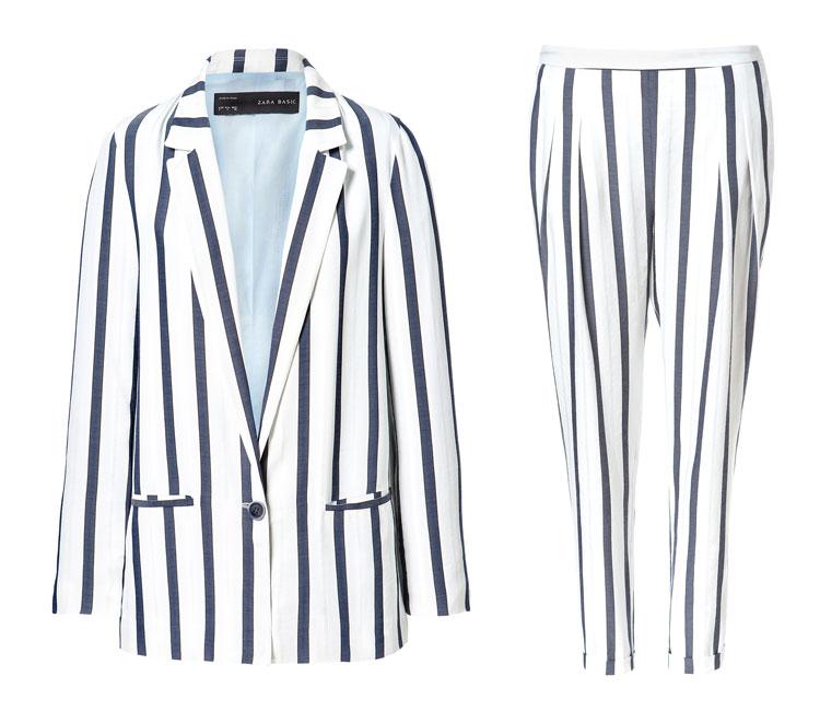 ZARA Wide Stripe Suit