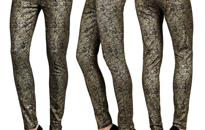Seven For All Mankind Gold Medallion Print Jeans