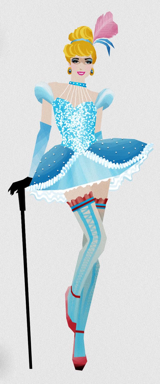 cinderella as a burlesque dancer