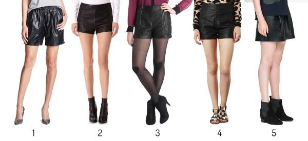 Faux Leather Shorts under $100