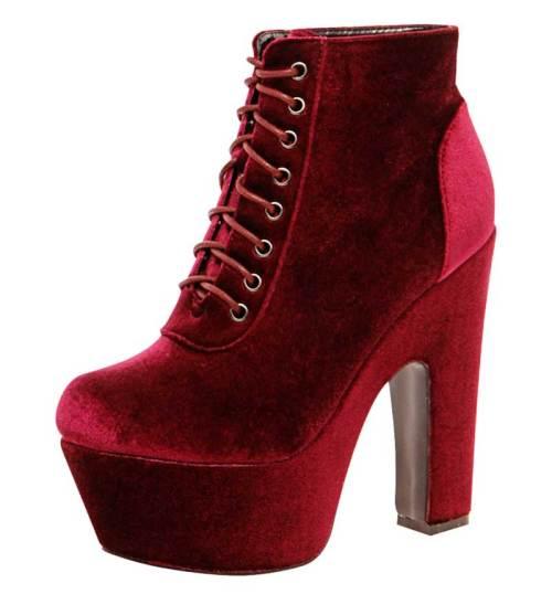 Boohoo Zoe Velvet Platform Boots