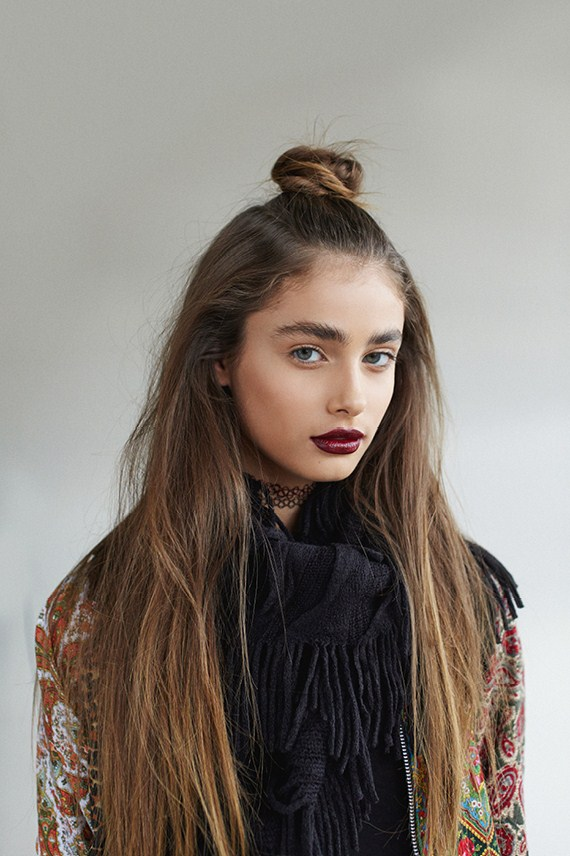Ombre Hair Top Knot
