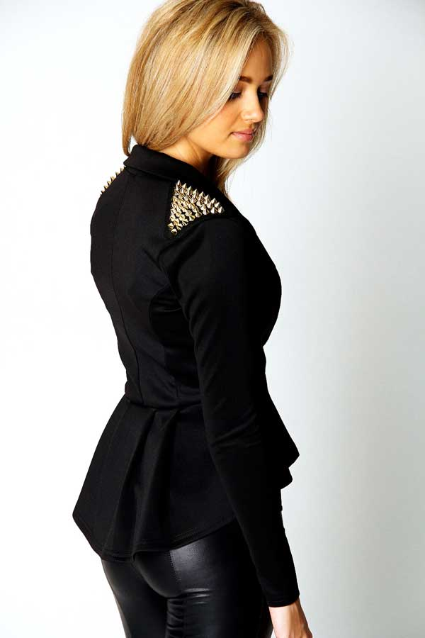 Boohoo Studded Shoulder Jacket