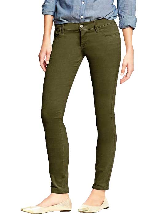 Old Navy Rockstar Cords in Green