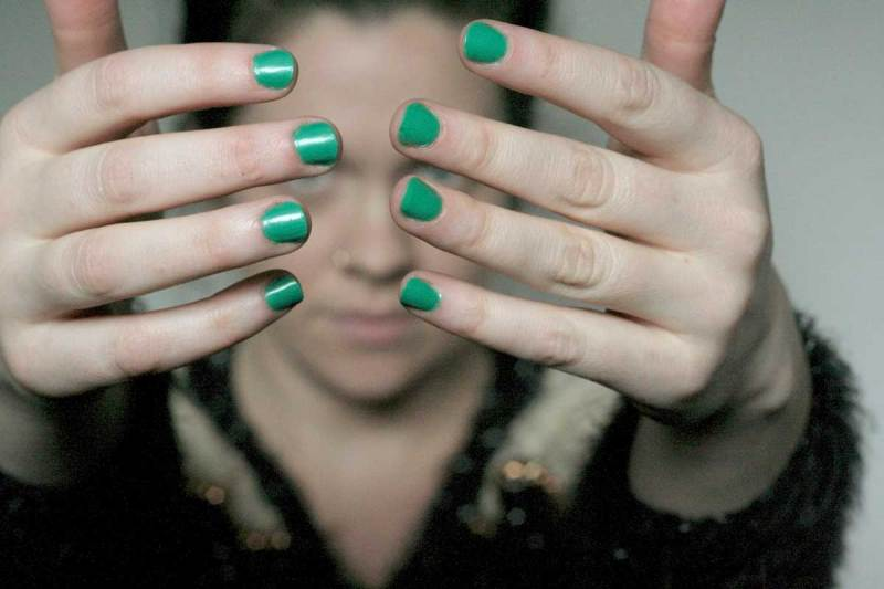 I'm Wearing: My favorite green nail polish