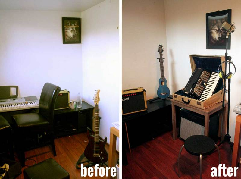 TJ Maxx Before & After: Music Studio