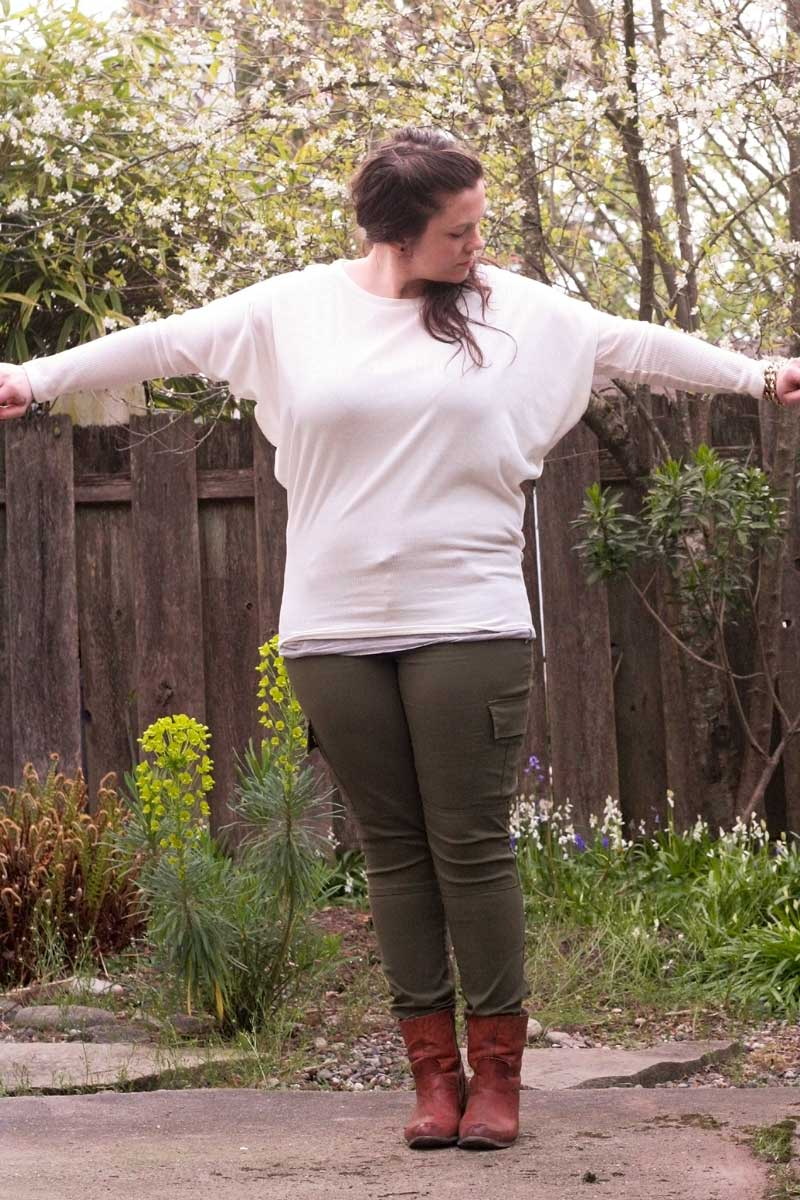 Outfit: Batwing Sweater & Prana Cargo Pants