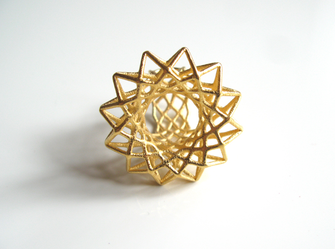 Mixlay Gold 3D Printed Ring