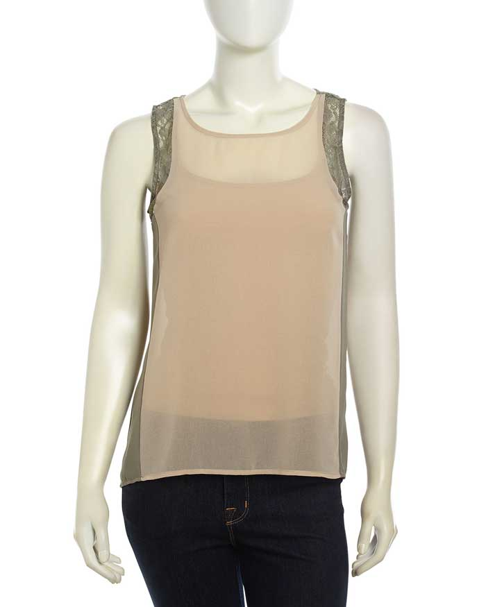 Daily Deal: Design History Color Block Lace Tank