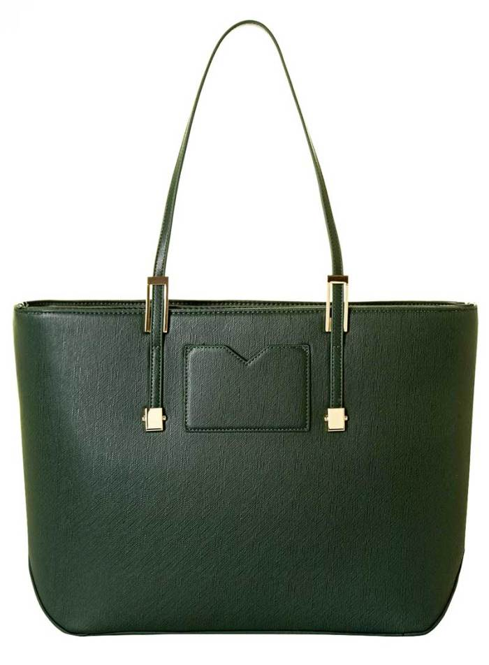 Dorothy Perkins Large Green Structured Tote