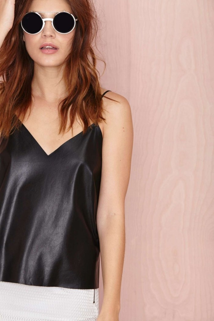 Nasty Gal Faux Leather cami