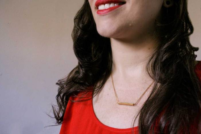 Rosewood Free Bar Necklace