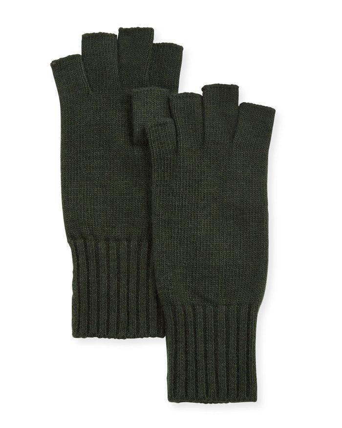 Portolano Fingerless Knit Gloves