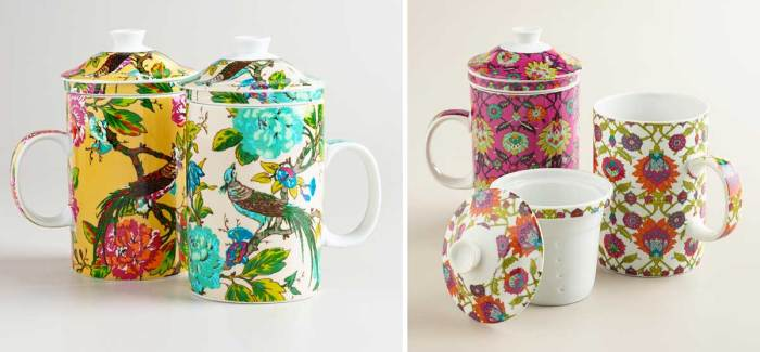 World Market Tea Infuser Mugs