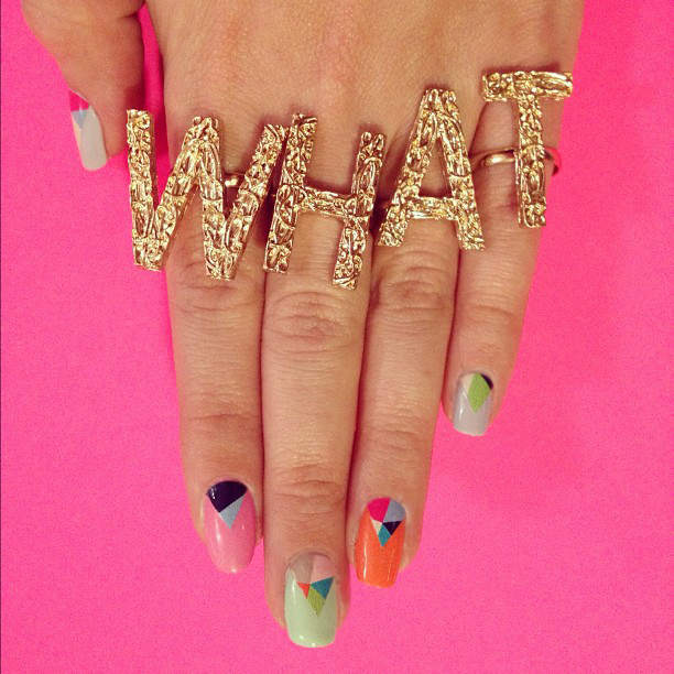 Geometric What Nail Wraps