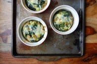 Frittatas with Kale,Mint and Pecorino