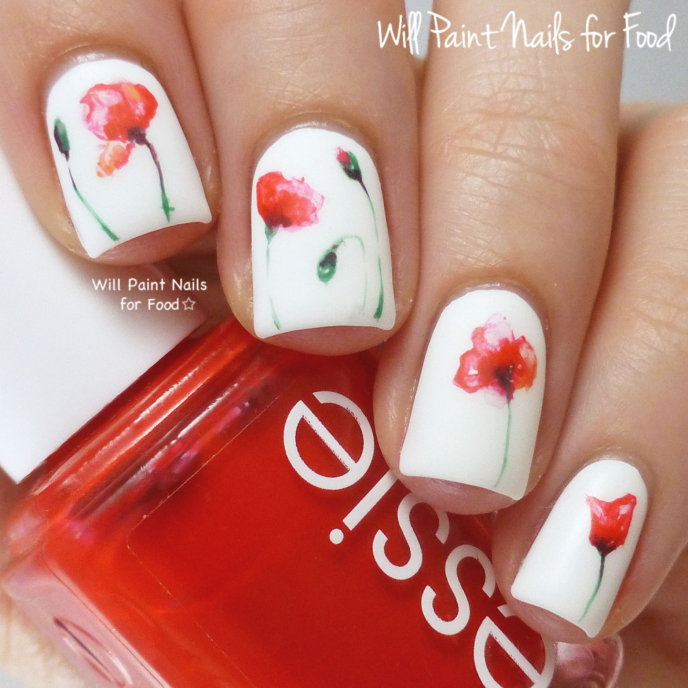 Diy floral nail art inspiration and tutorials source will paint nails for food prinsesfo Gallery