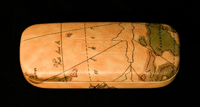 Firmoo Antique Map Glasses Case