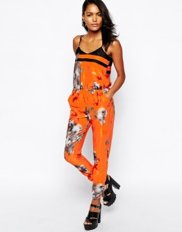 River Island Blurred Floral Jumpsuit, $63 (was $90)