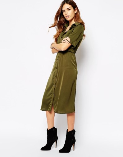 Utility Midi Button Through Shirt Dress, $37.50 (was $57)