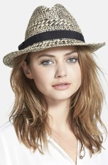 August Hat Straw Topper Fedora, $28