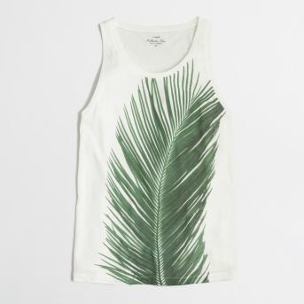 J. Crew Photographic Palm Print Tank, $36.50