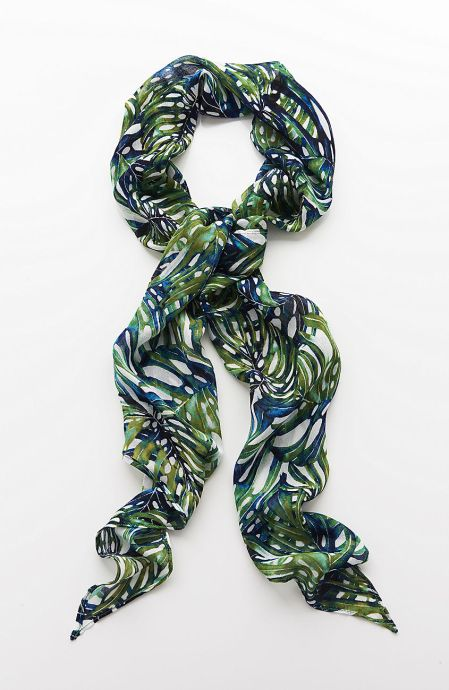 J. Jill Painted Palms Scarf, $24.99