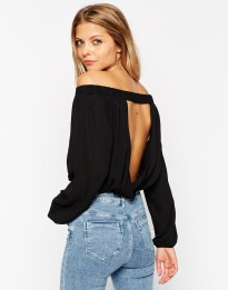 ASOS Off Shoulder Open Back Top, $35 (was $50)