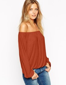 ASOS Off Shoulder Slouch Top, $33