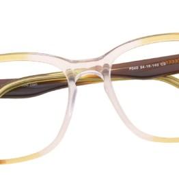 Brown to Clear Ombre Glasses