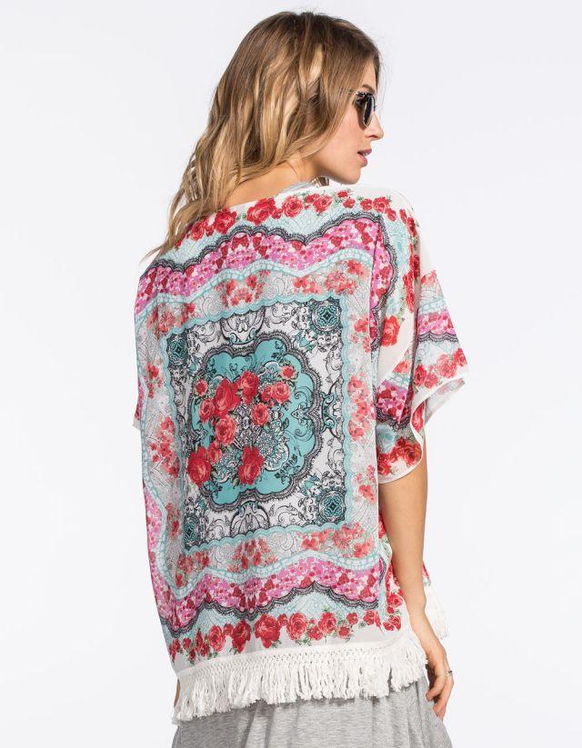 Full Tilt Floral Kimono Cardigan, $27.97