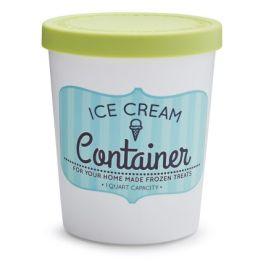 Quart Ice Cream Container - Green