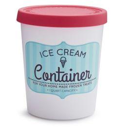 Quart Ice Cream Container - Red