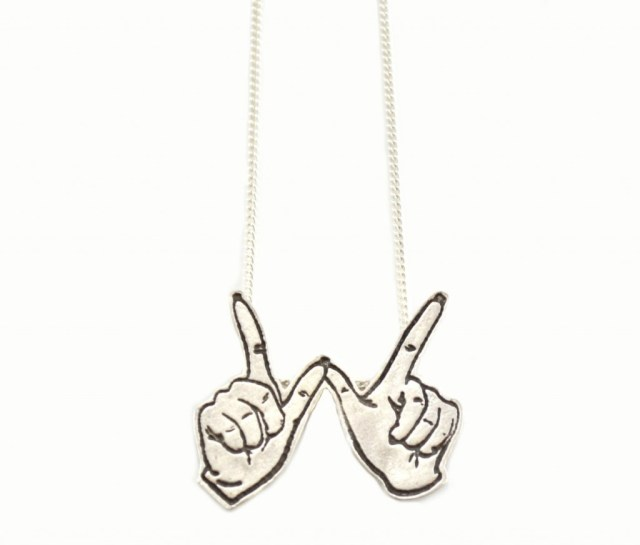 Silver Whatever Fingers Necklace
