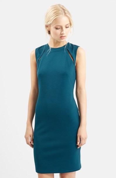 Topshop Shoulder Splice Ribbed Body-Con Dress, $48.90