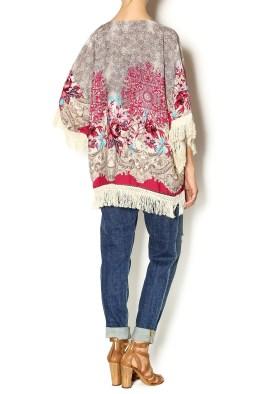 Trendology Floral Fringe Kimono Cardigan, $37