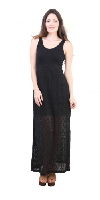 Lace Overlay Maxi Dress, $31.99 $19.19 (was $80)