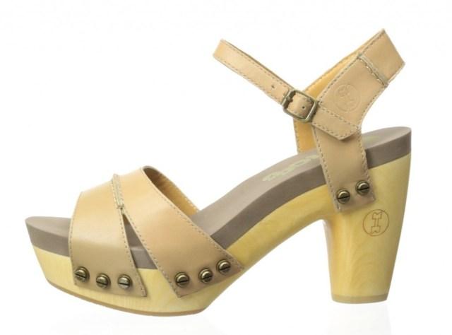 Flogg Yellow Florence Platform Sandal