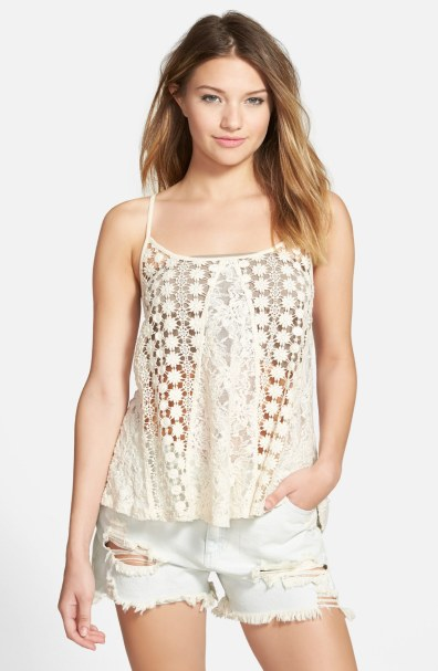 Sun & Shadow Mixed Lace Tank, $22.80 (was $38)