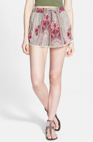 Sun & Shadow Pom Trim Dolphin Shorts, $22.80 (was $38)