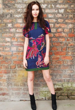 Japanese Paisley Shift Dress by Yap Yap
