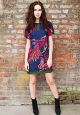 Japanese Paisley Shift Dress by Yap Yap