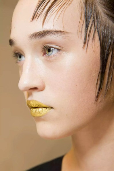 Prada SS16 Gold Lips 2