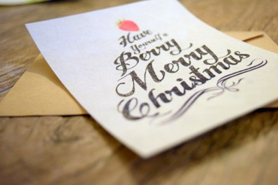 FreshPaper Gift Cards - Berry Merry Christmas