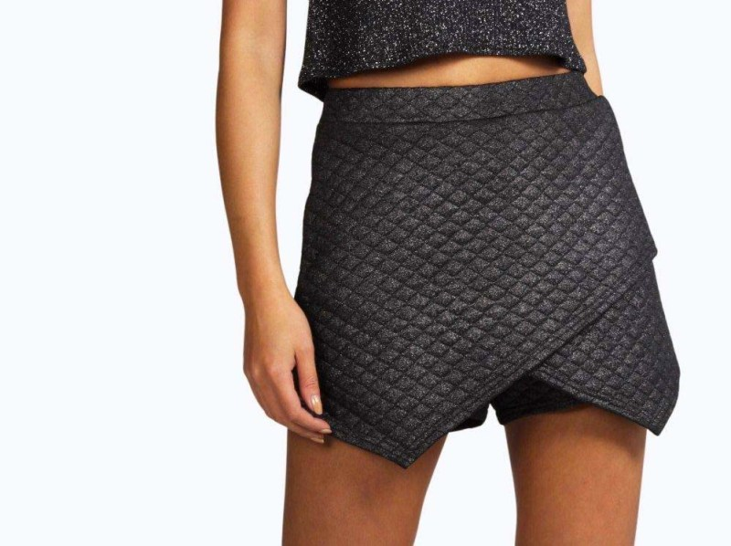 Boohoo Quilted Origami Skorts
