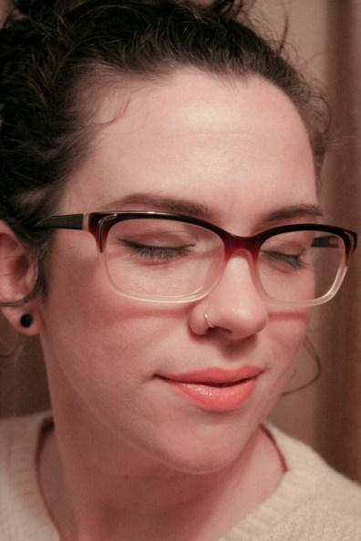 red gold ombre retro glasses