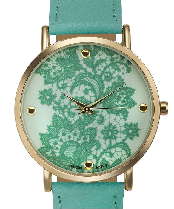 Rosseau Lace Overlay Watch - Mint