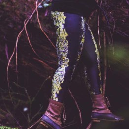 leggings fashion photo print hiking forest growth nature mount baker legs girl